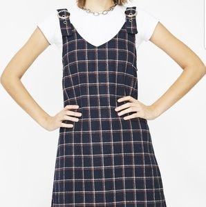 Dolls Kill French Kiss plaid dress, jumper